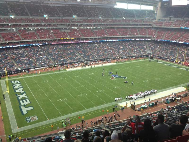 Seating view for NRG Stadium Section 538 Row M Seat 26