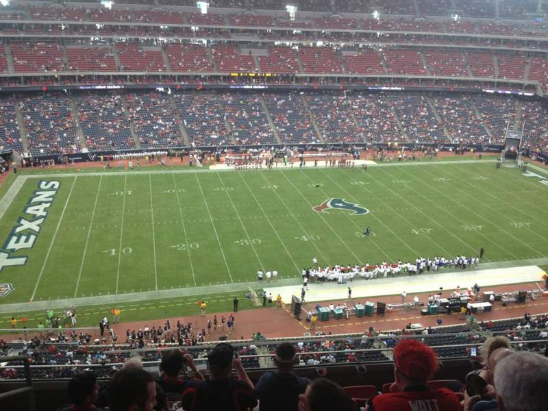 Seating view for NRG Stadium Section 536 Row M Seat 25
