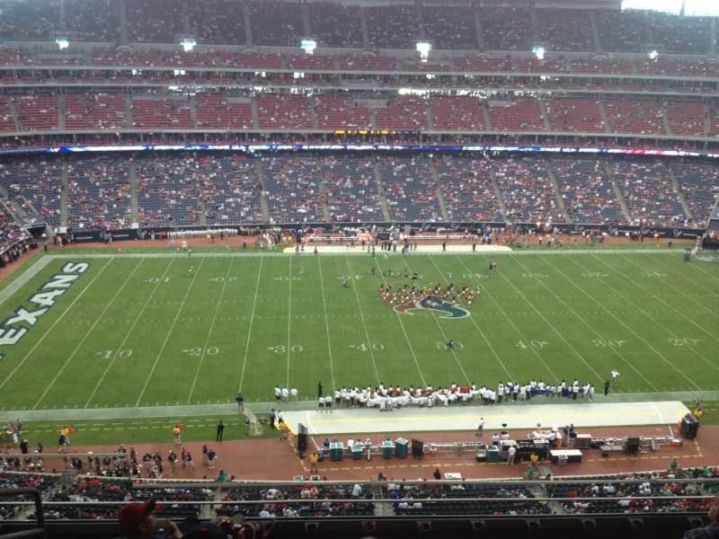 Seating view for NRG Stadium Section 535 Row M Seat 19