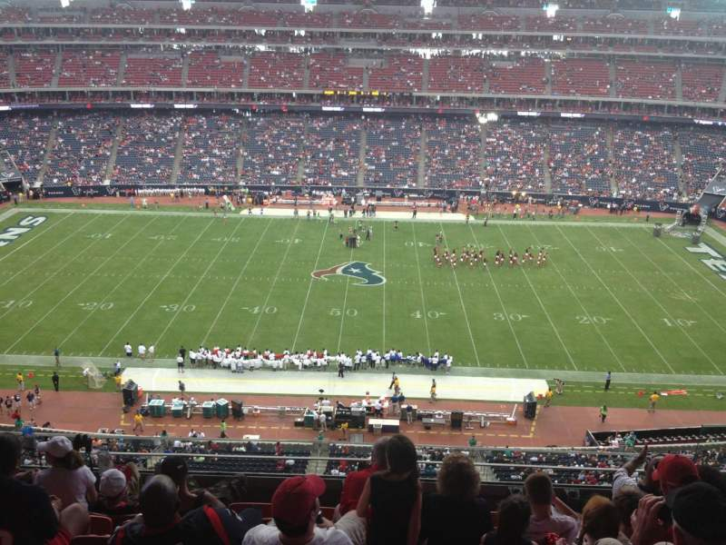 Seating view for NRG Stadium Section 534 Row M Seat 6
