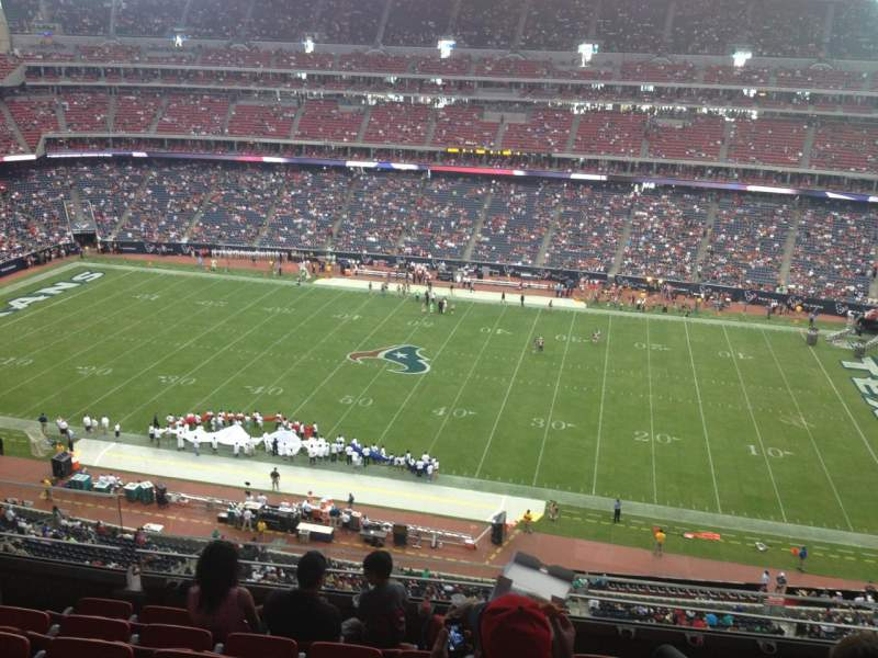 Seating view for NRG Stadium Section 532 Row M Seat 21