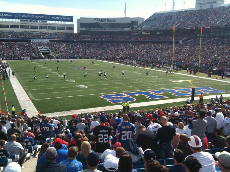 Seating view for New Era Field Section 103 Row 33 Seat 16