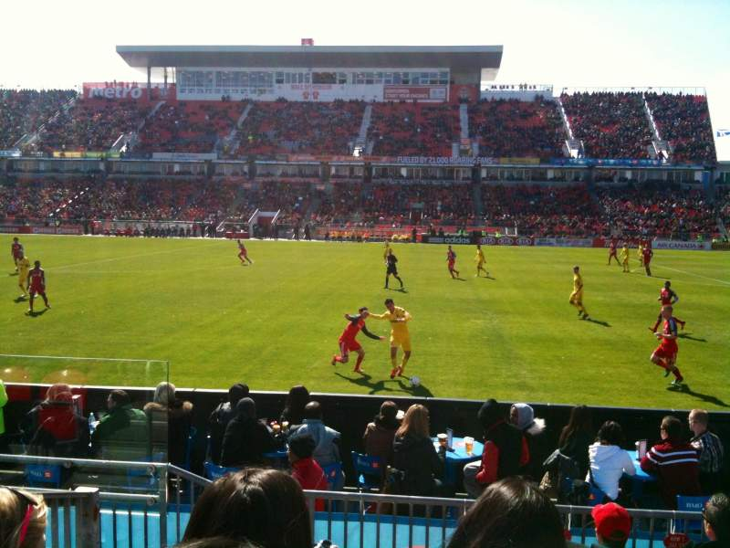 Seating view for BMO Field Section 106 Row 6 Seat 28