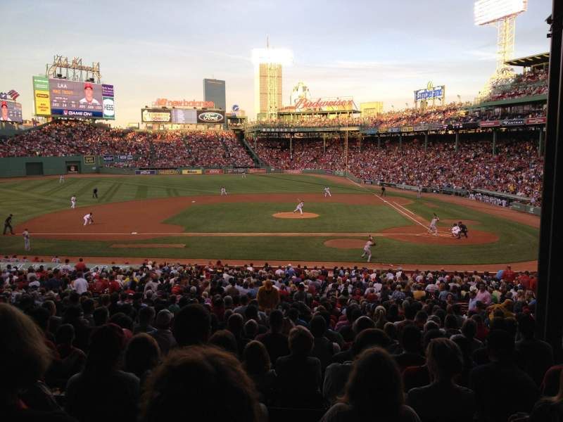 Seating view for Fenway Park Section Grandstand 25 Row 10 Seat 6