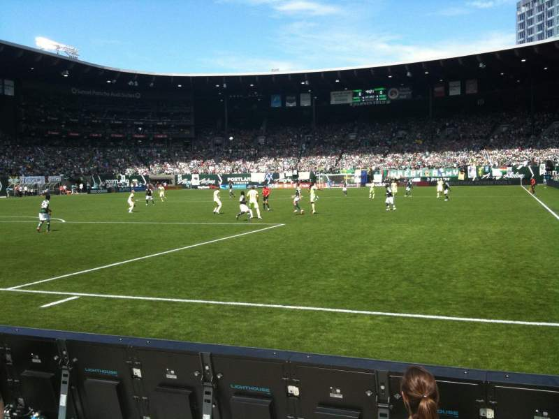 Seating view for Providence Park Section SD6 Row A Seat 1