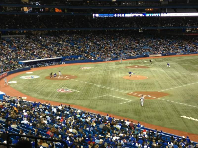 Seating view for Rogers Centre Section 215R Row 6 Seat 5