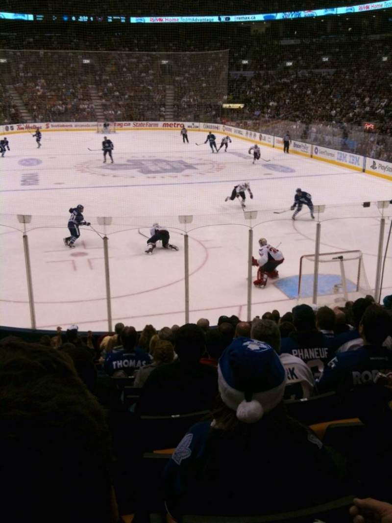 Seating view for Air Canada Centre Section 114 Row 17 Seat 15