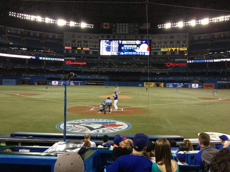 Seating view for Rogers Centre Section 121 Row 10 Seat 3
