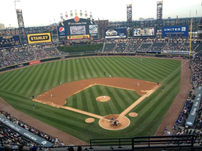 Seating view for Guaranteed Rate Field Section 534 Row 10 Seat 1