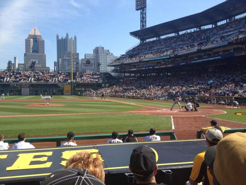 Seating view for PNC Park Section 21 Row J Seat 10