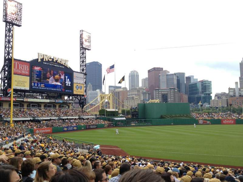 Seating view for PNC Park Section 127 Row Q Seat 1