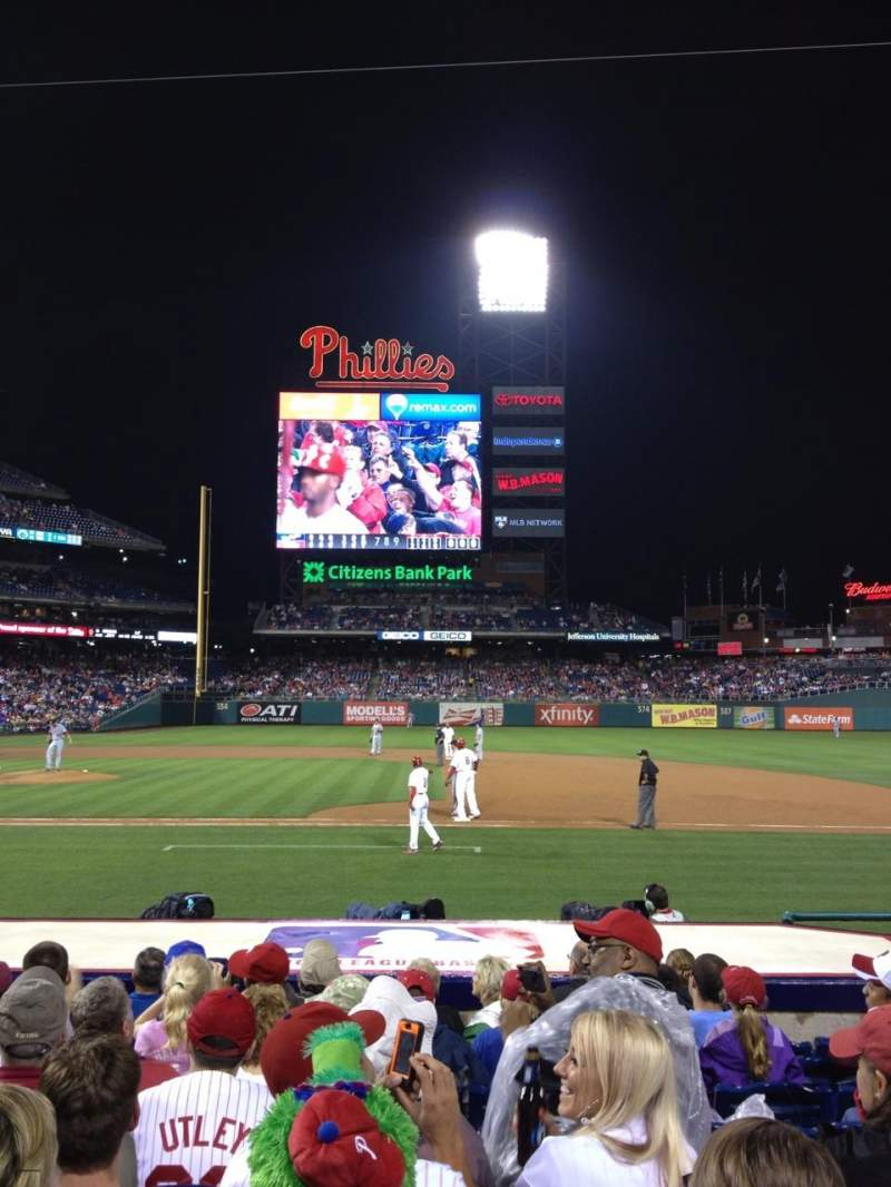 Seating view for Citizens Bank Park Section 116 Row 9 Seat 8