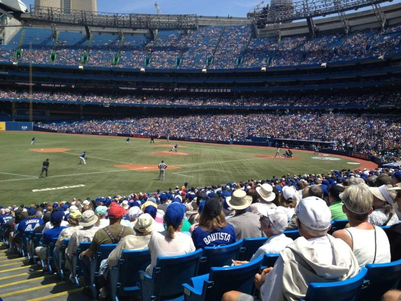 Seating view for Rogers Centre Section 129 Row 26 Seat 101
