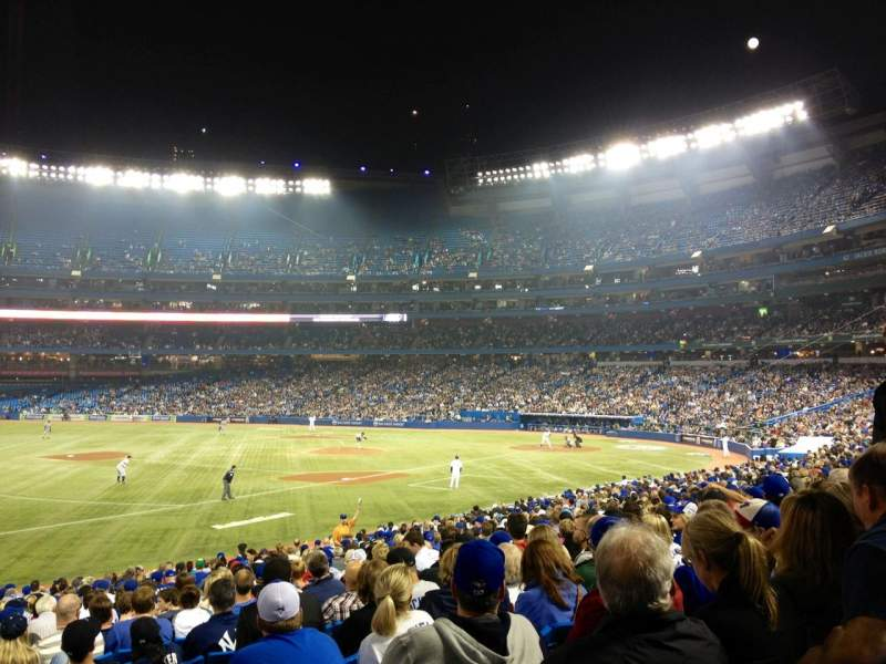 Seating view for Rogers Centre Section 130AL Row 27 Seat 101