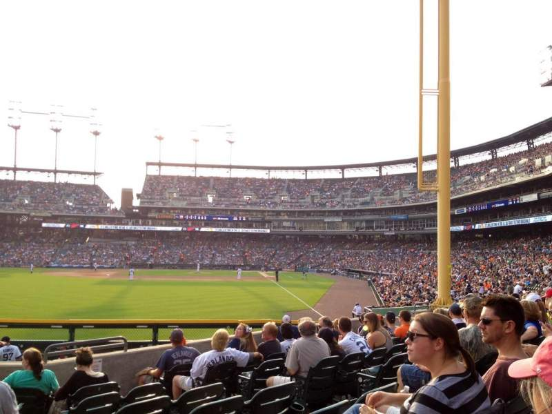 Seating view for Comerica Park Section 146 Row J Seat 1