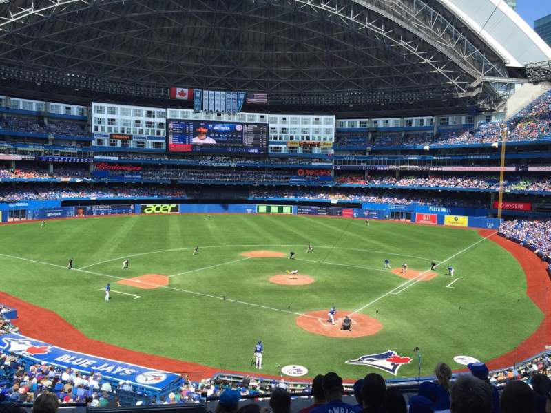 Seating view for Rogers Centre Section 225R Row 7 Seat 1