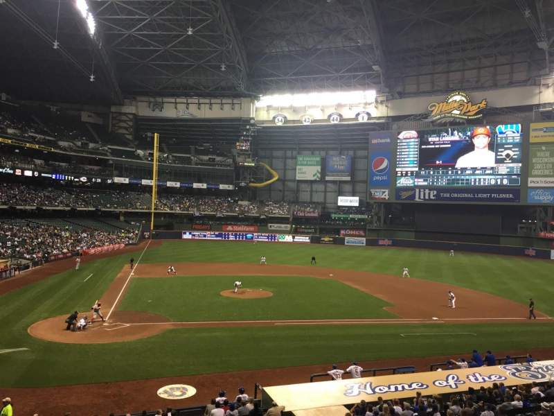 Seating view for Miller Park Section 215 Row 1 Seat 11