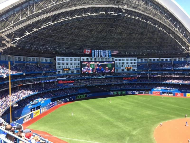 Seating view for Rogers Centre Section 531L Row 6 Seat 101