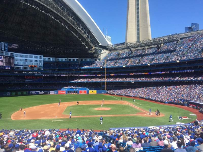 Seating view for Rogers Centre Section 126L Row 40 Seat 103