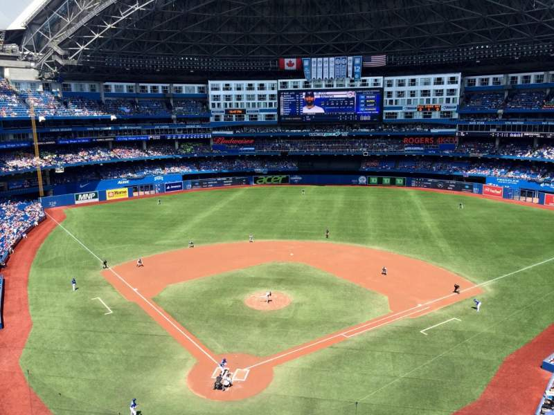 Seating view for Rogers Centre Section 523L Row 1 Seat 107