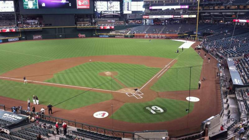 Seating view for Chase Field Section 210G Row 1 Seat 83