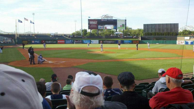 Seating view for Louisville Slugger Field Section 113 Row K Seat 3