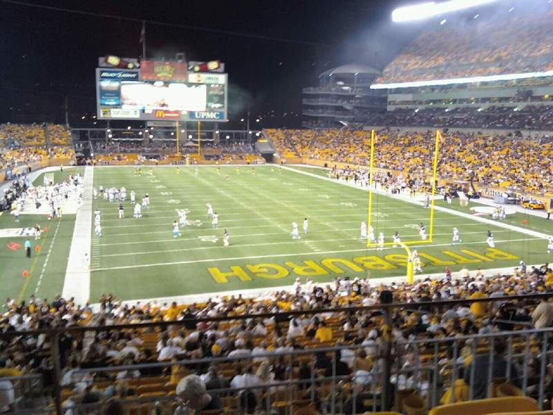Seating view for Heinz Field Section 221 Row B Seat 16