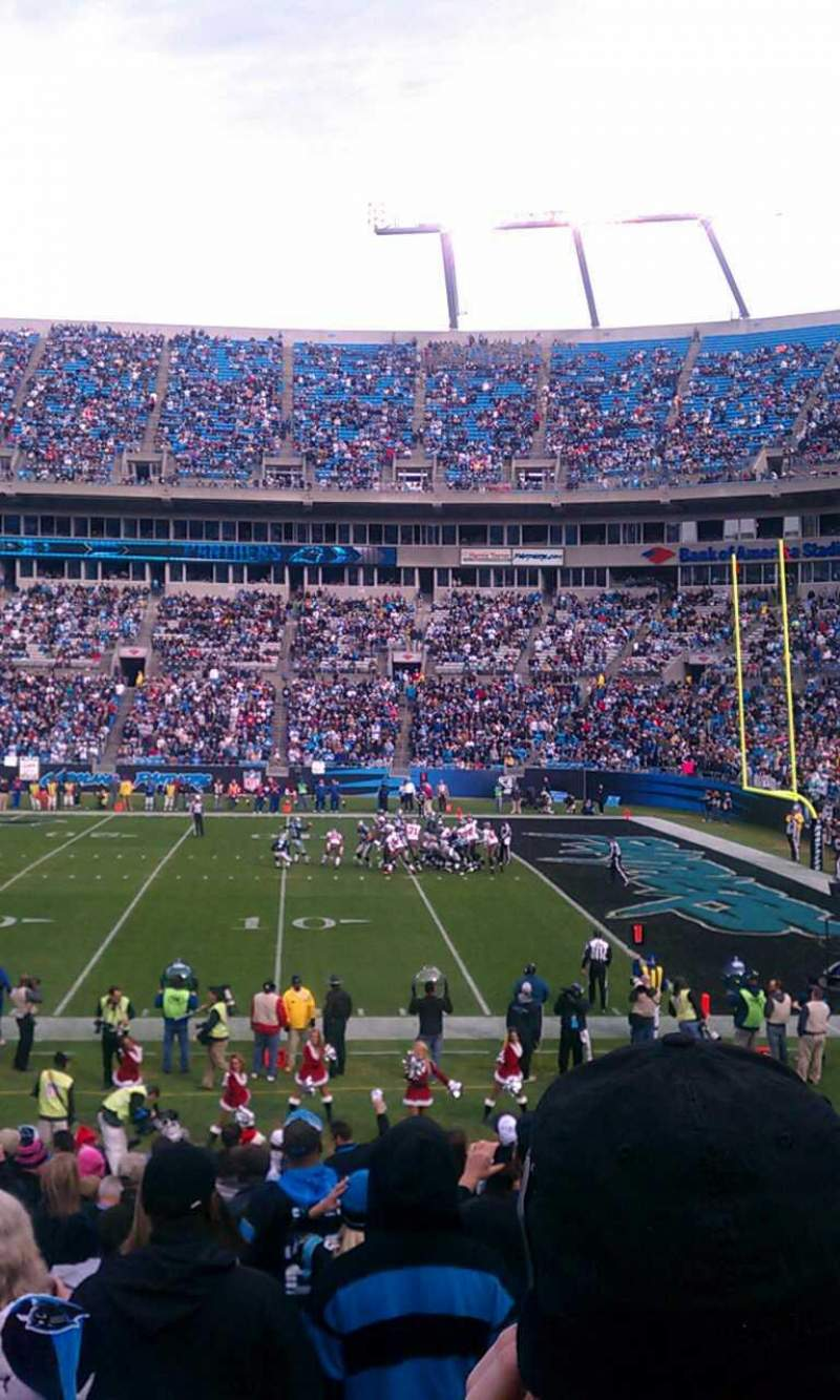 Seating view for Bank of America Stadium Section 128 Row 17 Seat 2
