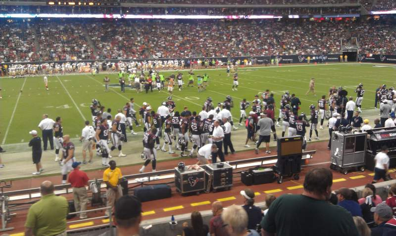 Seating view for NRG Stadium Section 107 Row H Seat 21