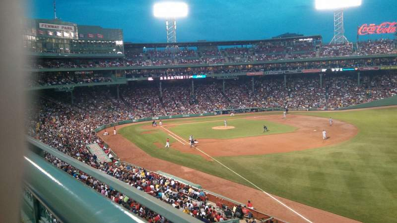 Seating view for Fenway Park Section Right Field Roof Deck Box 27 Row A Seat 7