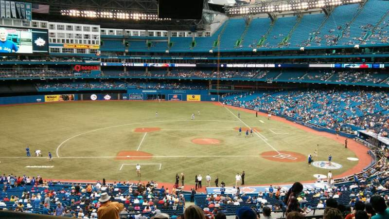 Seating view for Rogers Centre Section 229R Row 13 Seat 1