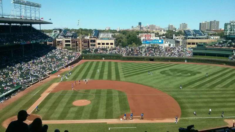 Seating view for Wrigley Field Section 528 Row 3 Seat 4