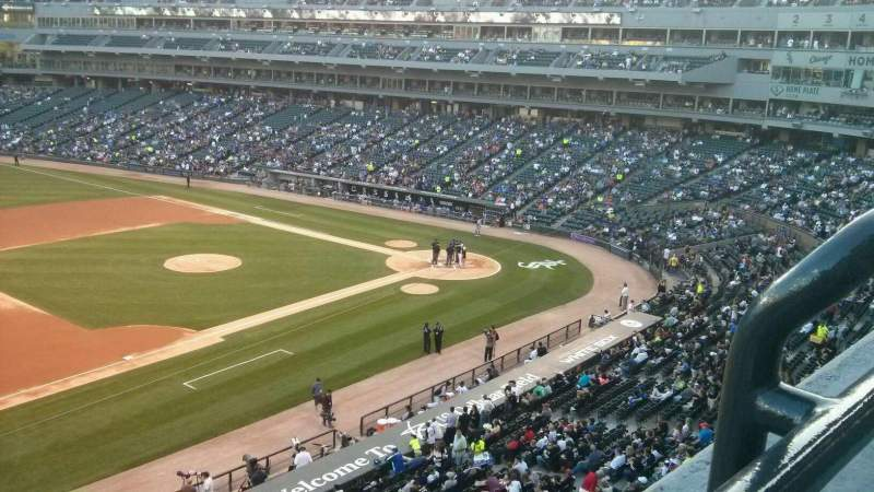 Seating view for U.S. Cellular Field Section 344 Row 1 Seat 2