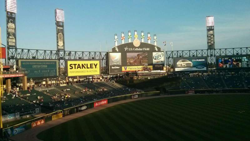 Seating view for Guaranteed Rate Field Section 344 Row 1 Seat 2