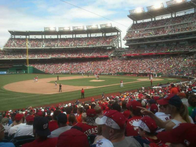 Seating view for Nationals Park Section 113 Row ff Seat 18