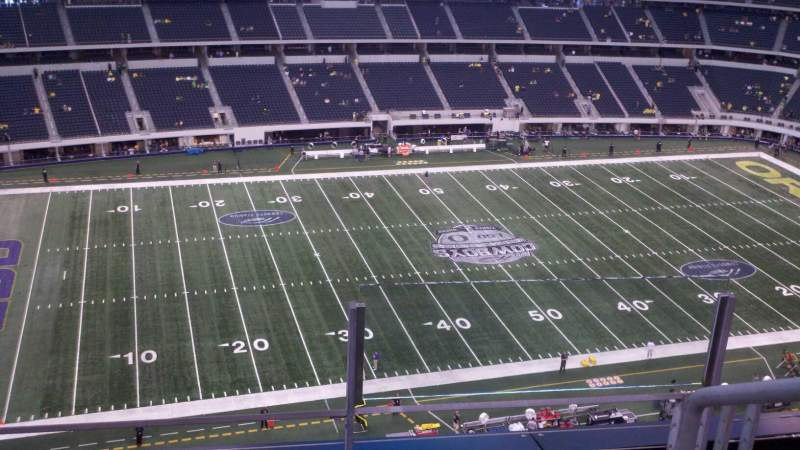Seating view for AT&T Stadium Section 415 Row 3 Seat 1