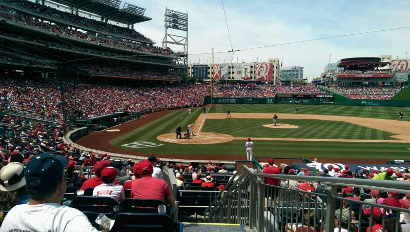 Seating view for Nationals Park Section 126 Row H Seat 1