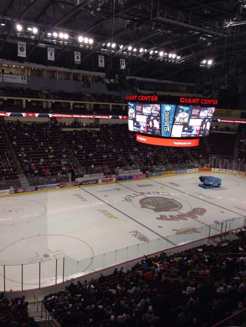 Seating view for Giant Center Section 204 Row A Seat 1