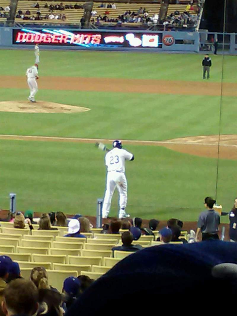 Seating view for Dodger Stadium Section 9FD Row S Seat 2