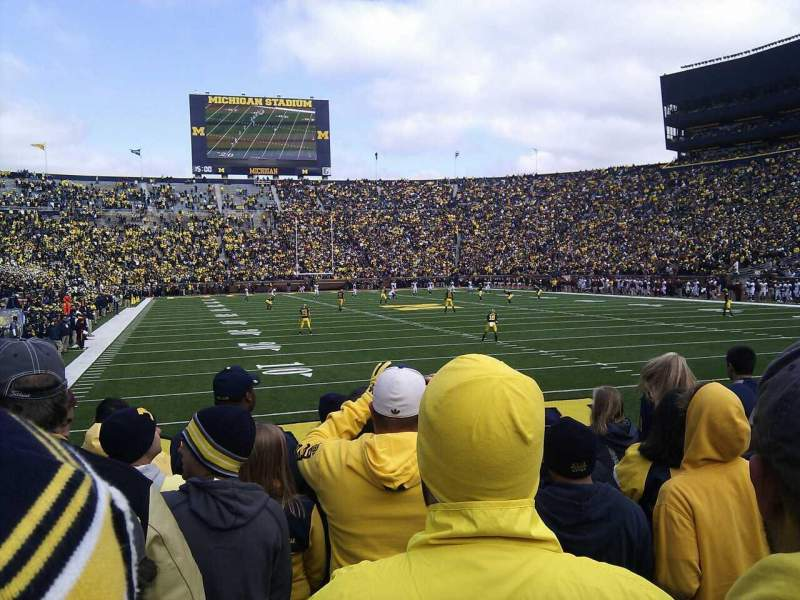 Seating view for Michigan Stadium Section 15 Row 7 Seat 23
