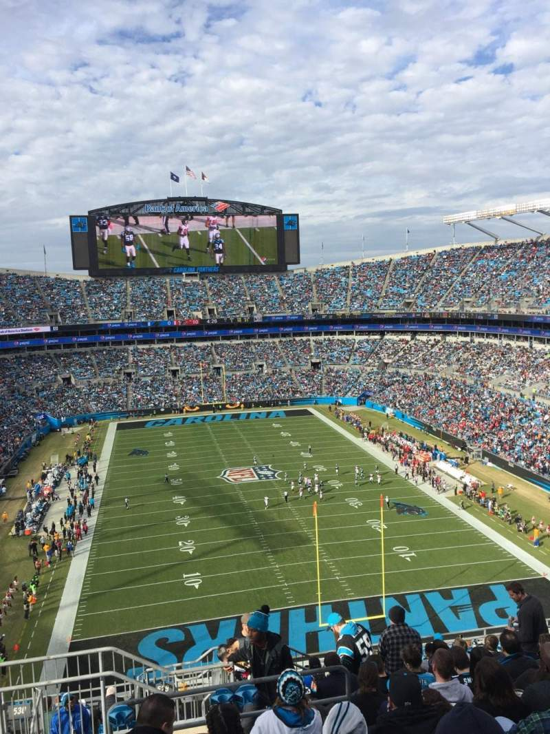 Seating view for Bank of America Stadium Section 529 Row 11 Seat 24
