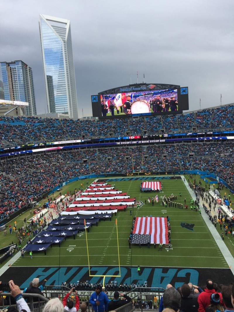 Seating view for Bank of America Stadium Section 554 Row 8 Seat 21