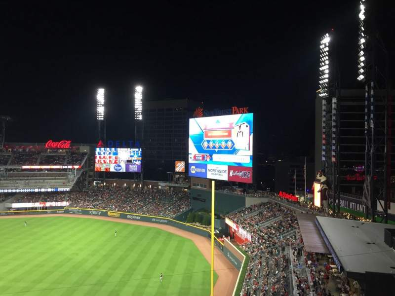 Seating view for SunTrust Park Section 412 Row 2