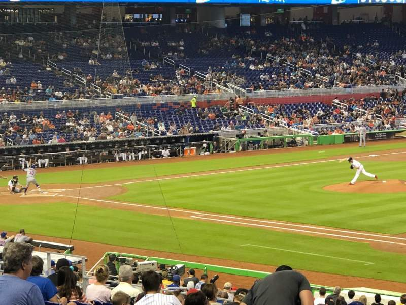 Seating view for Marlins Park Section 6 Row 12 Seat 19