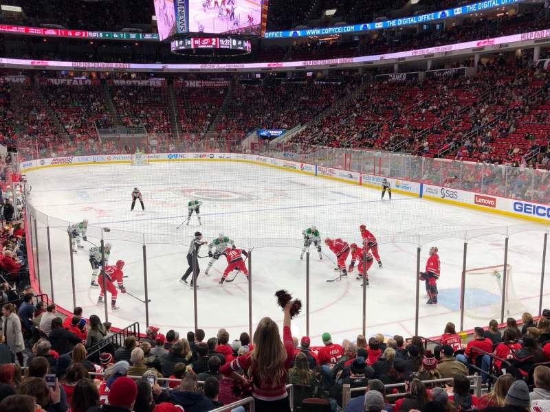 Seating view for PNC Arena Section 128 Row Q Seat 10