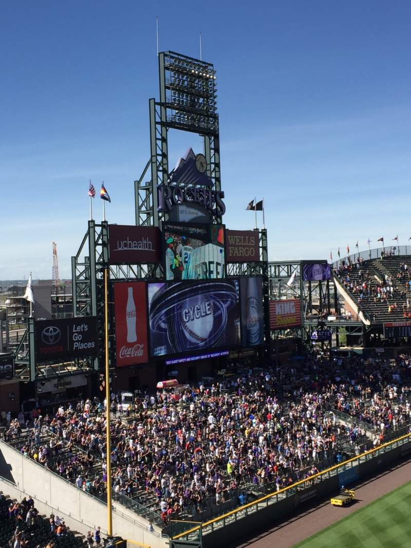 Seating view for Coors Field Section L343 Row 2 Seat 8