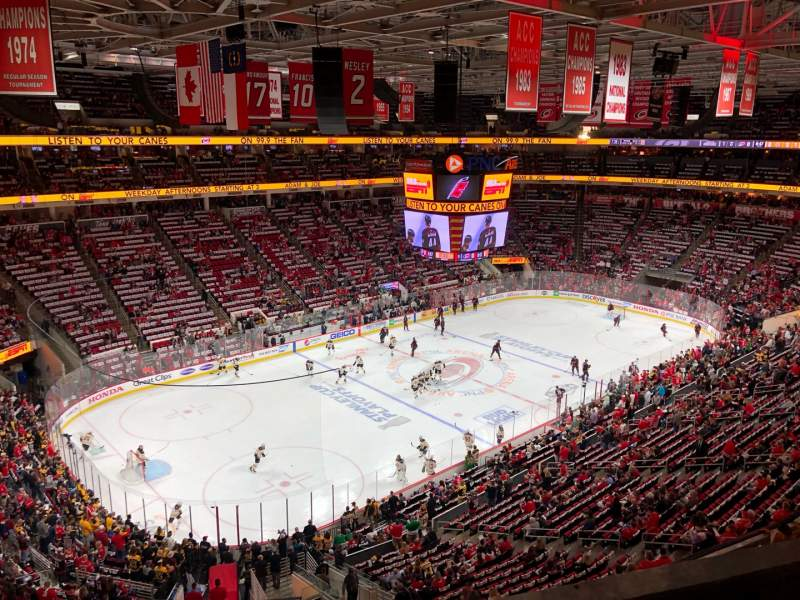 Seating view for PNC Arena Section 328 Row B Seat 8