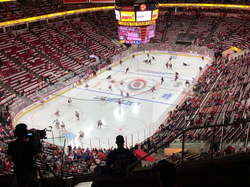 Seating view for PNC Arena Section 331 Row G Seat 5