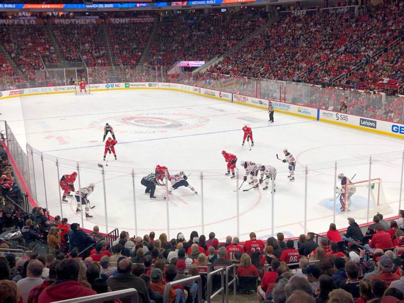 Seating view for PNC Arena Section 128 Row V Seat 13