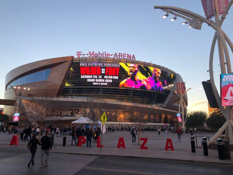 Seating view for T-Mobile Arena Section Main Entrance